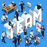 Illustration för Team Isometric People 3D uppsättningvektor Royaltyfri Foto