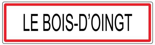 Illustration för tecken för Le Bois D Oingt stadstrafik i Frankrike Royaltyfri Foto