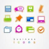 Illustration för tecken för logo för symboler för affärskontor fastställd Arkivbilder