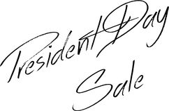 Illustration för tecken för presidentdagSale text Royaltyfri Fotografi