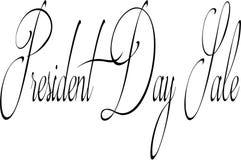 Illustration för tecken för presidentdagSale text Royaltyfria Bilder