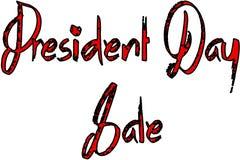 Illustration för tecken för presidentdagSale text Arkivbilder
