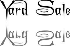 Illustration för tecken för text för gårdförsäljning royaltyfria foton