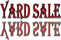 Illustration för tecken för text för gårdförsäljning royaltyfri fotografi