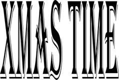 Illustration för tecken för Xmas-tidtext royaltyfri fotografi