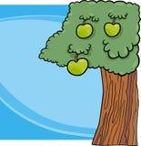 Illustration för tecknad film för Apple träd Royaltyfria Bilder