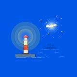 Illustration för tecknad film för fyrvektoröversikt Arkivbilder