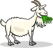 Illustration för tecknad film för getlantgård djur stock illustrationer