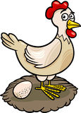 Illustration för tecknad film för hönalantgård djur Arkivbilder