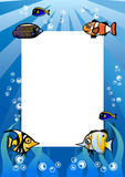 Illustration för tecknad film för havsvärldsbaner Royaltyfri Illustrationer