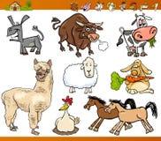 Illustration för tecknad film för lantgårddjur fastställd Arkivbilder