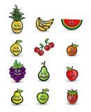 Illustration för tecknad film för leendefruktgrupp Stock Illustrationer