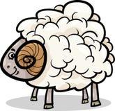 Illustration för tecknad film för RAMlantgårddjur Arkivfoto