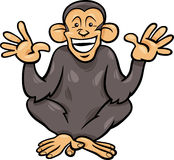 Illustration för tecknad film för schimpansapa djur Royaltyfri Foto