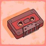 Illustration för tecknad filmkassettband, vektorsymbol Royaltyfri Bild