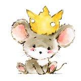Illustration för tecknad filmmusvattenfärg Gulliga möss royaltyfri illustrationer