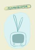 Illustration för televisionuppsättning stock illustrationer