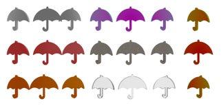 illustration för tolkning 3d av paraplyet 3d Royaltyfri Fotografi