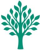 Illustration för trädsymbolsvektor arkivfoto