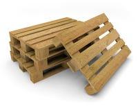 Illustration för transport 3D för palett wood Arkivfoto