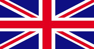 Illustration för unionJack United Kingdom flagga stock illustrationer