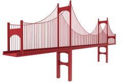 Illustration för upphängningbro Arkivfoton
