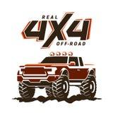 illustration för uppsamling Av-väg för gigantisk lastbil Royaltyfri Bild