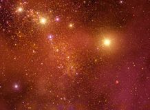 Illustration för utrymmestjärnabakgrund Arkivfoto