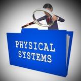 Illustration för växelverkan 3d för Bot för fysiska system för Cyber royaltyfri illustrationer