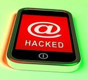 Illustration för varning 3d för spionage för telefonen hackerrengöringsduk stock illustrationer