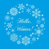 Illustration för vektor för bakgrund för lyckligt nytt år för ferie för kort för tappningvinter hand dragen Royaltyfria Foton