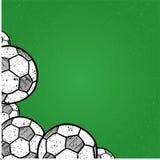 Illustration för vektor för bakgrundsfotbollboll royaltyfri illustrationer