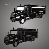 Illustration för vektor för behållarelastbil Modern tankfartyg isolerad vektor vektor illustrationer