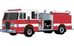 Illustration för vektor för brandmotor vektor illustrationer