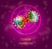 Illustration för vektor för cancermedicin begreppsmässig vektor illustrationer