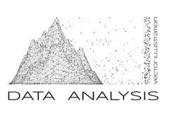 Illustration för vektor för dataanalys Royaltyfri Fotografi