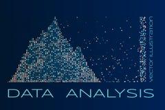 Illustration för vektor för dataanalys Arkivbilder