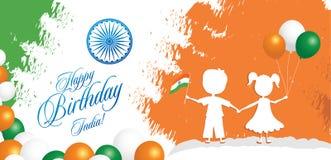 Illustration för vektor för design för kort för hälsning för Indien republikdag 26 Januari - republikdag av Indien royaltyfri illustrationer