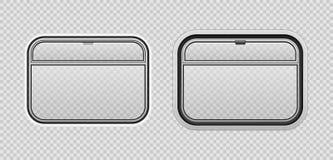 Illustration för vektor för drevvagnsfönster realistisk royaltyfri foto
