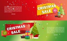 Illustration för vektor för erbjudande för vinter för xmas för rabatt för ferie för bakgrund för advertizing för julförsäljningsb stock illustrationer