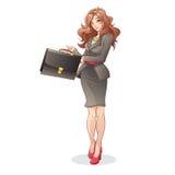 Illustration för vektor för affärskvinna Arkivfoton