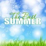 Illustration för vektor för affisch för sommarferier Arkivbilder
