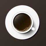 Illustration för vektor för bästa sikt för kaffekopp Royaltyfria Bilder