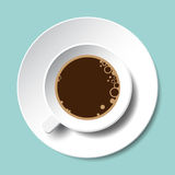 Illustration för vektor för bästa sikt för kaffekopp isolerad Stock Illustrationer