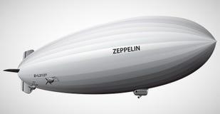 Illustration för vektor för ballong för Dirigible för tappningluftskeppzeppelinare Arkivfoto