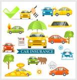 Illustration för vektor för bilförsäkring Arkivbilder