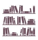 Illustration för vektor för bokhylla som isoleras på vit stock illustrationer