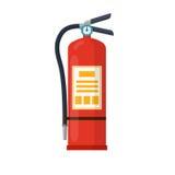 Illustration för vektor för brandsläckarelägenhetstil Arkivfoto