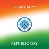 Illustration för vektor för design för kort för hälsning för Indien republikdag 26 Januari vektor illustrationer