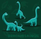 Illustration för vektor för dinosaurieBrachiosaurustecknad film Royaltyfri Foto